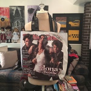 Jonas Brothers Rolling Stone Tote